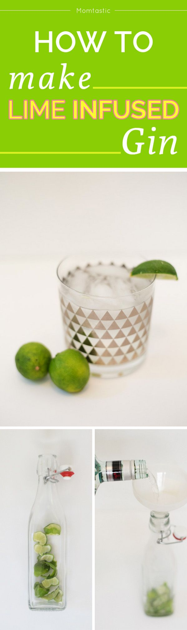 How to make lime infused gin - perfect recipe for gin and tonics!
