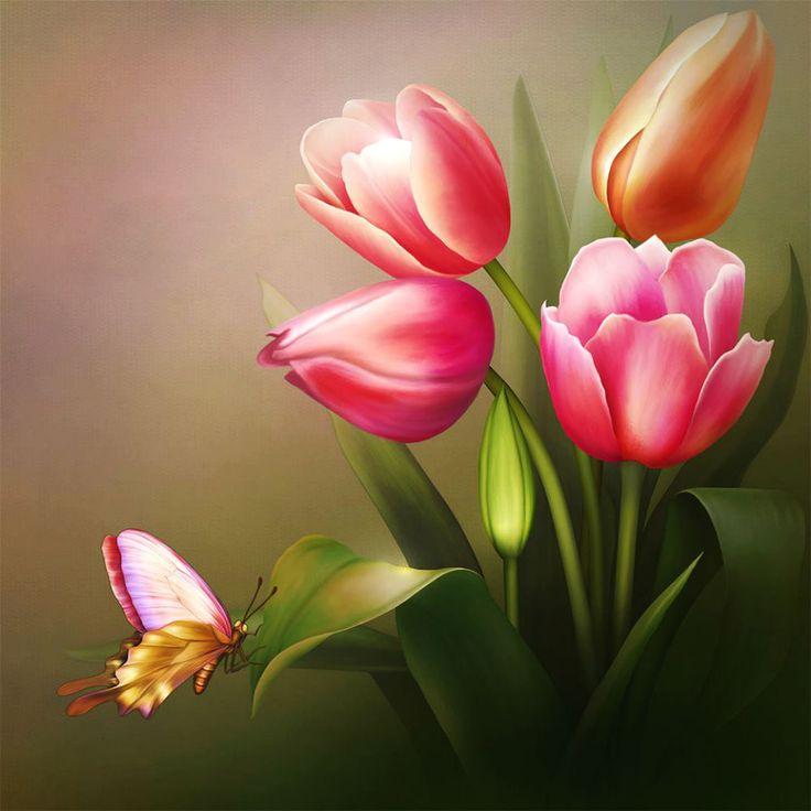 Пазл Тюльпаны — собрать пазл онлайн