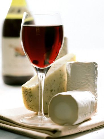 Cheese Still Life with Red Wine Photographic Print by Alena Hrbkova at AllPosters.com