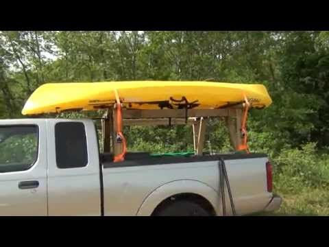 ▶ DIY kayak truck rack - YouTube Another great rack idea! Adding up the ideas.