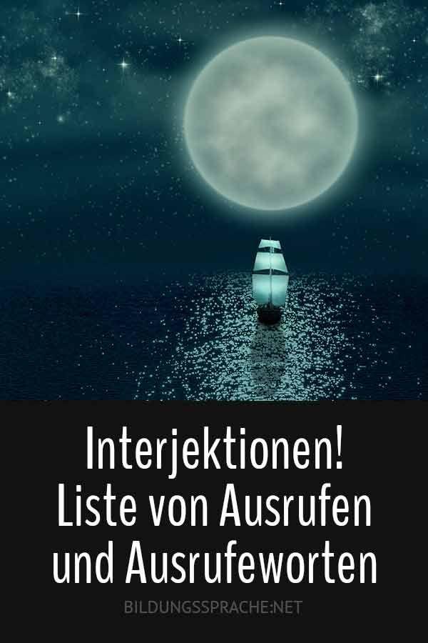 Ach! 83 Ausrufewörter der deutschen Sprache – Liste der Interjektionen – Ilo
