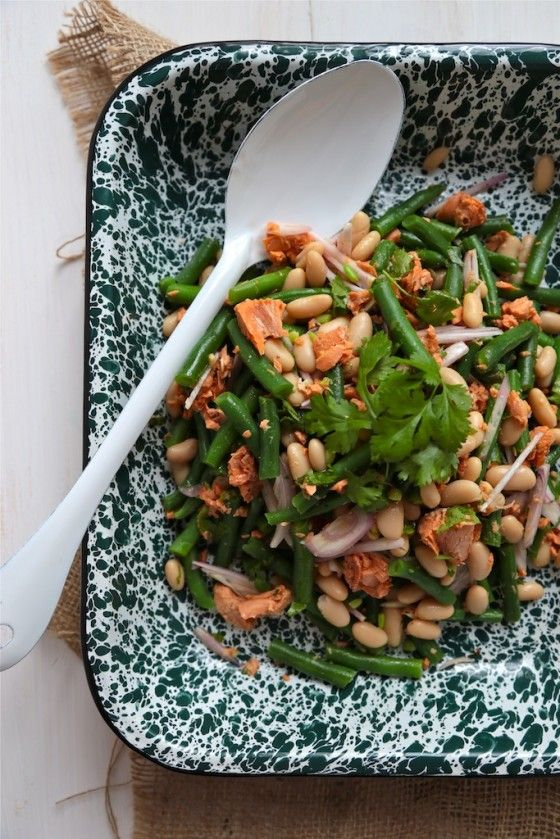 Fresh Green Bean and Salmon Salad