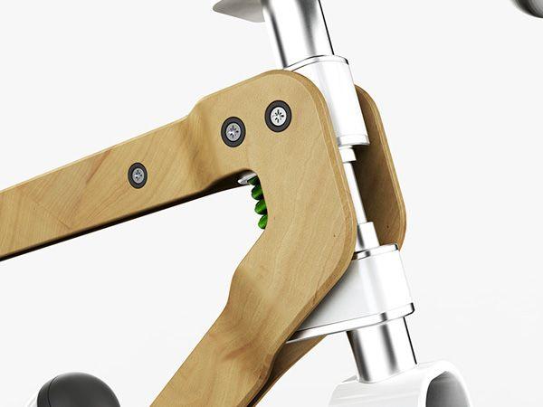 Pietro Russomanno's BKR Concept Bike Has a Sturdy Wood Frame