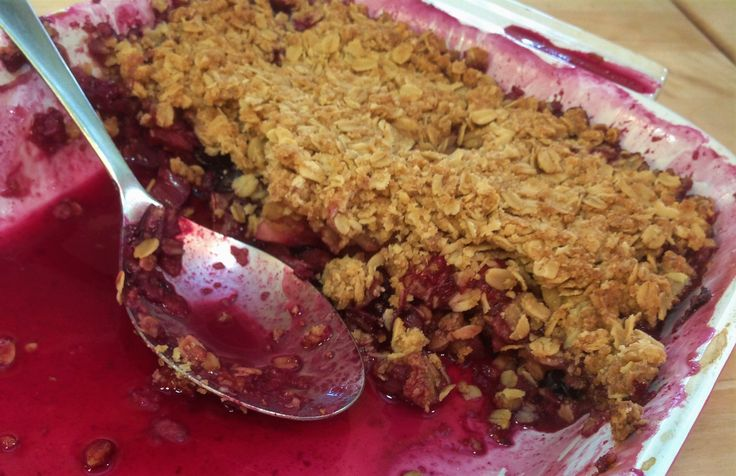 Rhubarb Crisp. When rhubarb is in season, don't miss out on getting a few bunches to make this delicious tangy dessert!