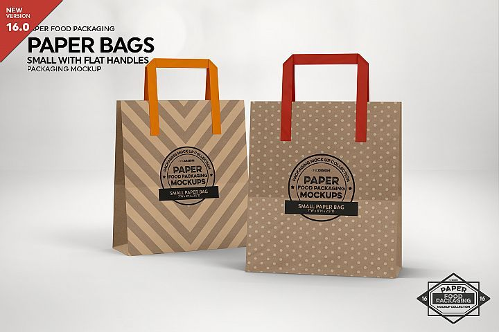 Download Small Paper Bag With Flat Handles Packaging Mockup 284101 Branding Design Bundles Packaging Mockup Small Paper Bags Bakery Bags