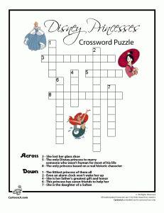 disney princess crossword puzzle and word search disney activitiesdisney gamestravel - Disney Princess Games And Activities