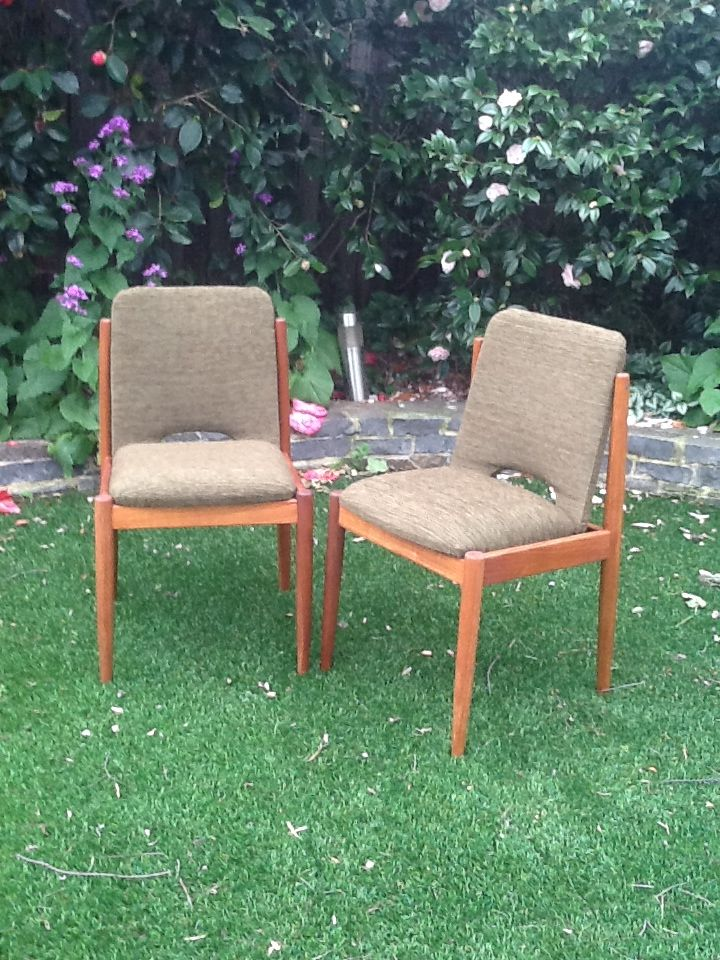 Finally finished  Parkeresque chairs resanded and upholstered