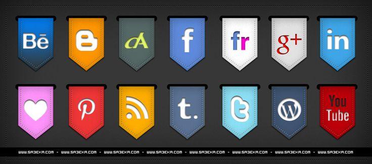 ايقونات مواقع التواصل الاجتماعي بشكل جميل منتديات قمر العين العين مون Social Media Icons Free Graphic Design Freebies Social Icons