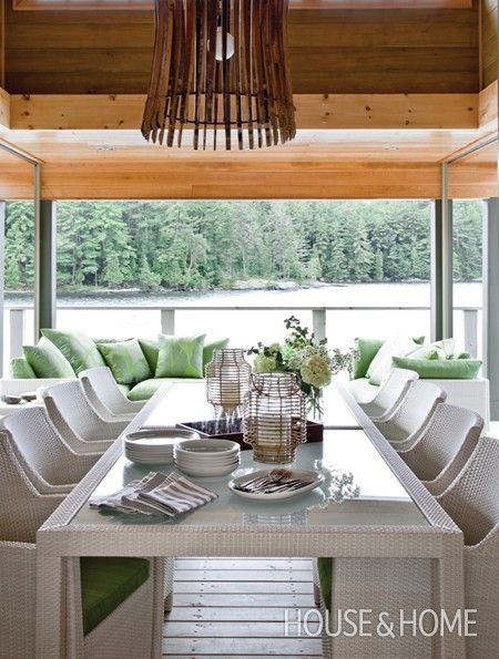 Marvelous Parsons Style Outdoor Table And Sleek Chairs Seat Up To 12.