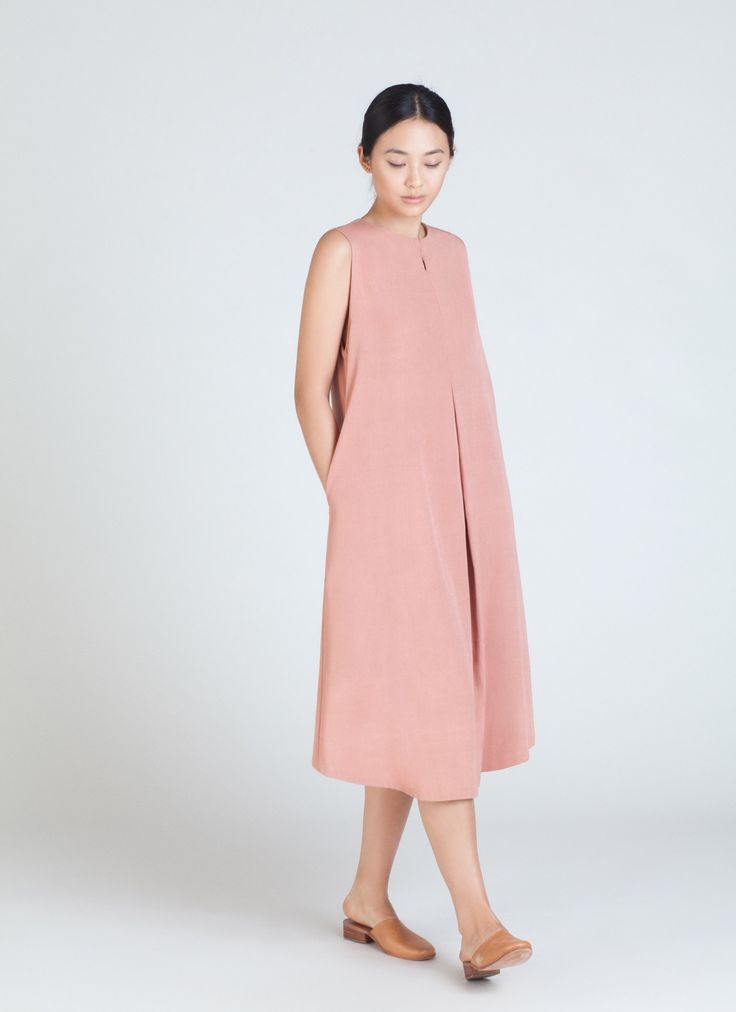 A dusty pink dress from Kaarem.