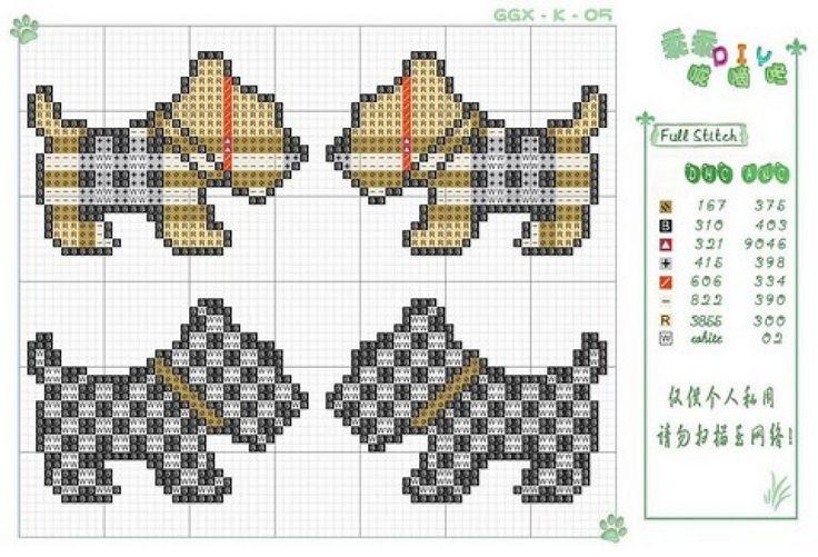 Free Scottie Dog Cross Stitch Chart Pattern #stitching