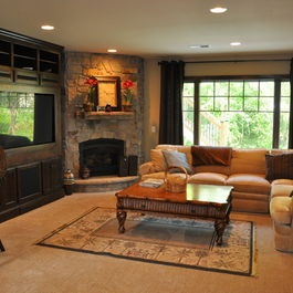 Traditional Home Fireplace Tv On Side Design Ideas Pictures Remodel And