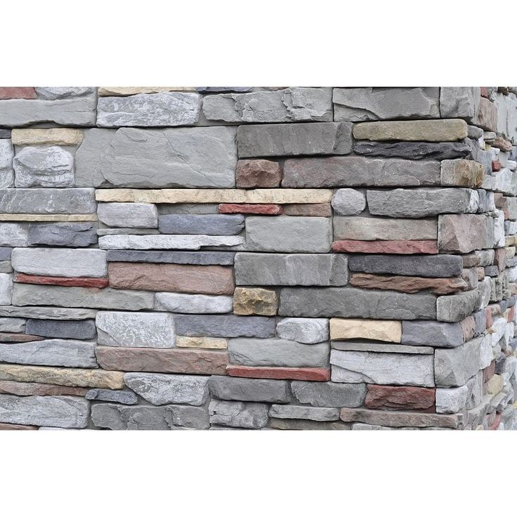 Stacked Stone Home Exterior: Shop M-Rock 125 Sq. Ft. Gray Dry Stack Flat At Lowes.com