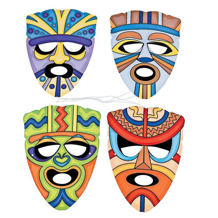 Tribal Masks - OrientalTrading.com $8 for 12