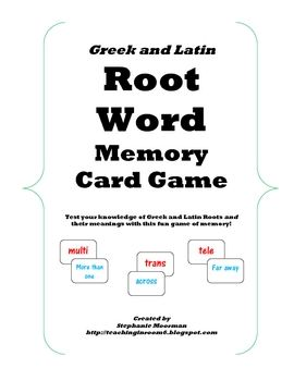 Vocab: How to Rock Greek & Latin Roots - MiddleWeb