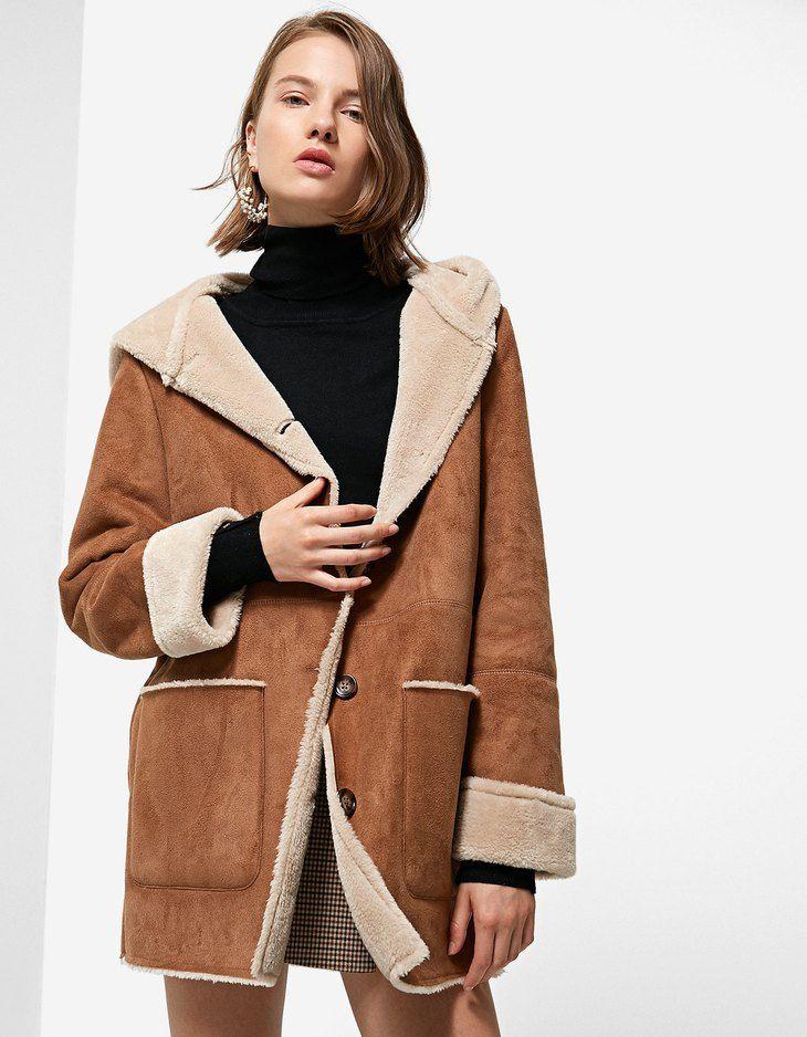 en stock como escoger moda más deseable At Stradivarius you'll find 1 Double-sided coat with hood ...