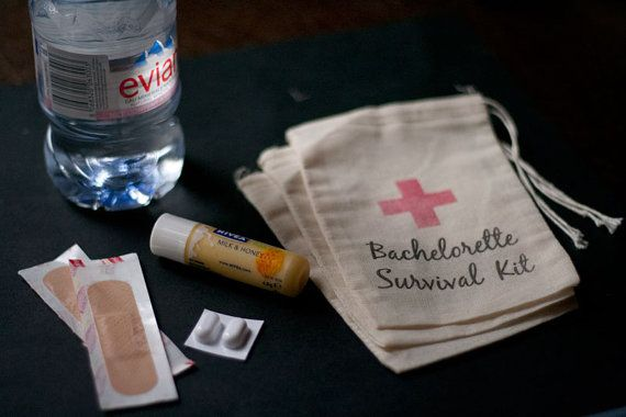 10 x Bachelorette Survival Kit Muslin by CandybuffetCreations