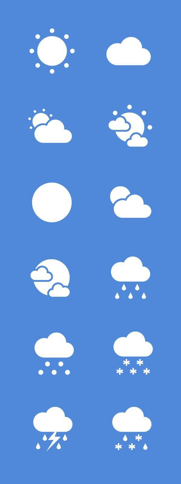 Free Flat Weather Icon Set: