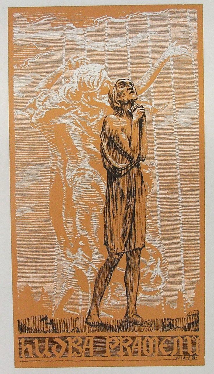 Frant. Bílek v ilustraci knihy Otakara Březiny