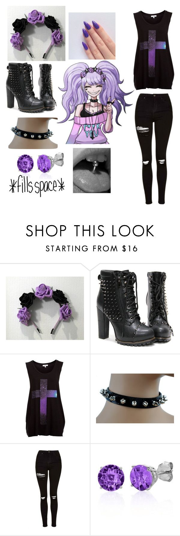 """""""Pastel goth Junko inspired outfit"""" by supernova-1000 ❤ liked on Polyvore featuring Topshop and Belk & Co."""