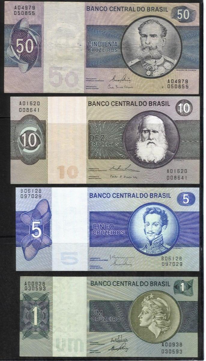 Cédulas na época dos Cruzeiros.