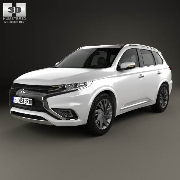 mitsubishi outlander phev s 2014 3d model from humster3dcom price 75