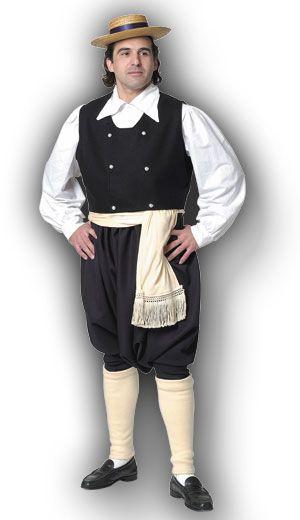Eptanisian Male Traditional Dance Costume