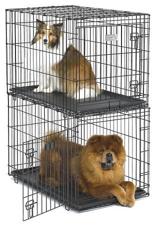 Midwest Metal Stacking Wire Dog Crates, View Larger Image
