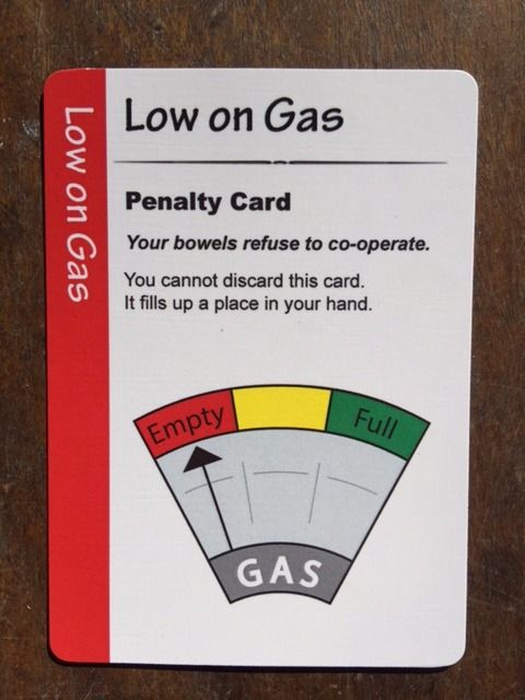 Fart Juice Cards. Low on Gas.