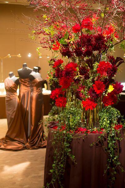 Japanese florist I'llony's display .