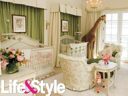 NURSERY: lavish nursery ideaNurseries Room, Twin Room, Mariah Carey, Twin Baby, Twin Nurseries, Colors Schemes, Baby Room, Nick Cannon, Baby Nurseries