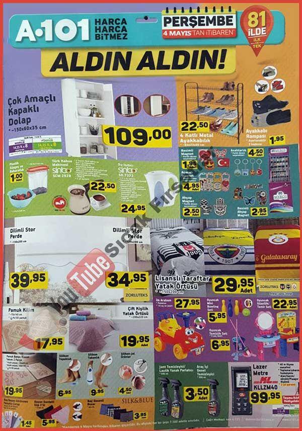 """A101 marketlerde aktüel ürün kampanyaları devam ediyor. A101'de bu hafta4 Nisan - 11 Nisan 2017 tarihleri arasında geçerli olacak indirimli ürün fırsatlarını aşağıdaki kampanya kataloğunda inceleyebilirsiniz. A101 HI-LEVEL 28"""" uydu alıcılı led televizyon 799 TL, samsung j120 cep telefonu 629 TL fiyatlarla satılacak. Özellikle televizyon küçük odalar ve mutfaklar için çok ideal. World ve bonus kartla taksitle satın alabilirsiniz. Bahara özel gölgelikli salıncak 179 TL fiyatla satıla..."""