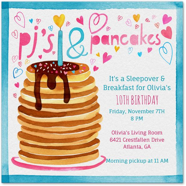 PJ's And Pancakes Party...my November Kids Party