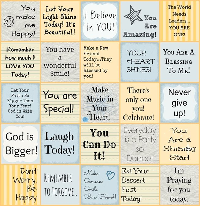 Free Encouraging Lunch Box Notes for Kids from Faith Filled Food for Moms