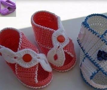 Yazlık örgü bebek sandalet - Örgü Modelleri