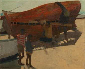 FIXING THE BOATS By Marjorie Wallace