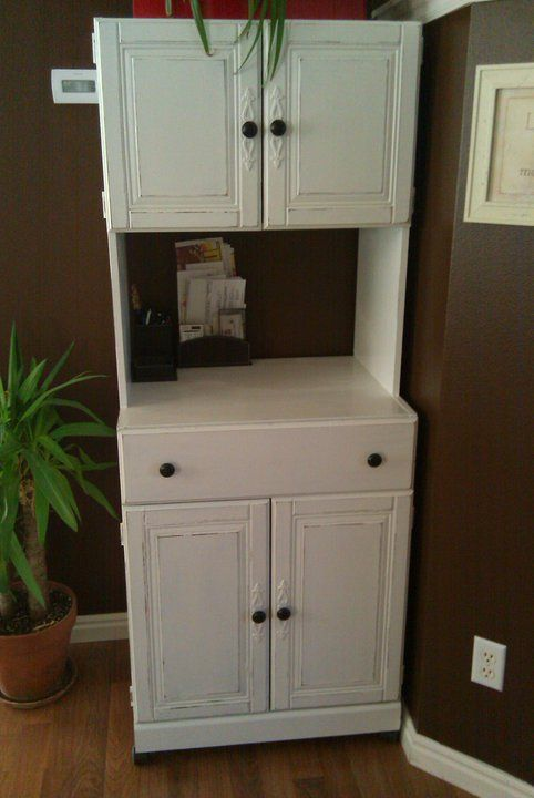 Paint Me Shabby Microwave Stand Turned Bill And Junk Collector