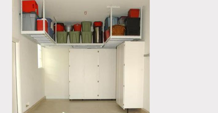 Overhead Garage Storage Racks   Ceiling & Hanging Garage Storage   SafeRacks