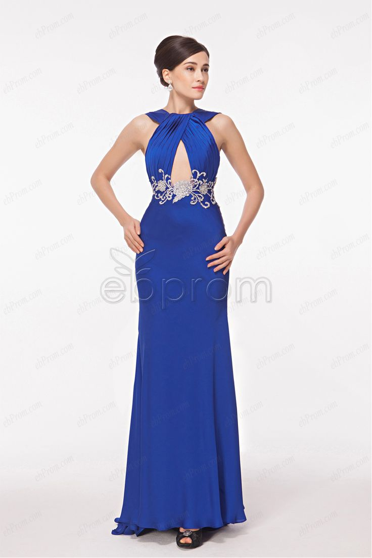 Closet triangle cut out back dress - Royal Blue Cut Out Prom Dresses Low Back Pageant Dresses Prom Dress With Embroidery