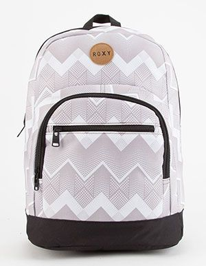 ROXY Grand Love Backpack Grey chevron