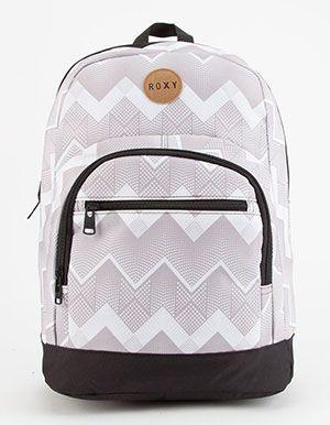 ROXY Grand Love Backpack Grey chevron