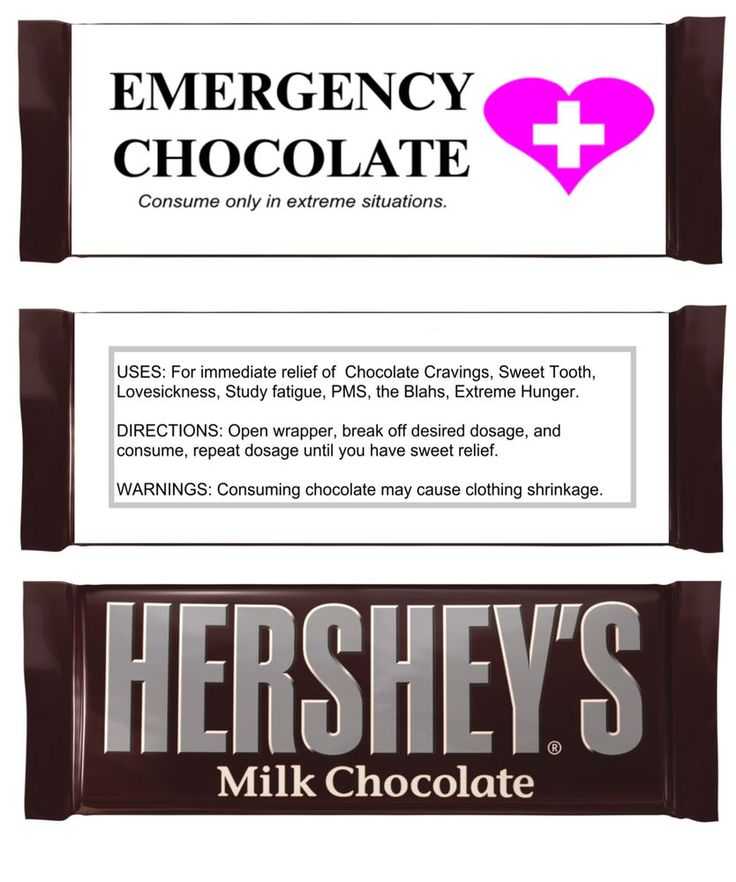 Valentines Day Emergency Chocolate Party Favor Candy Bar Wrappers Labels #PartyTimeLabels #Anniversary