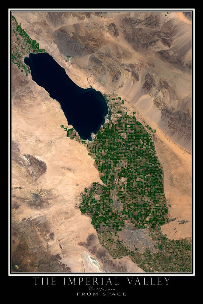 Imperial Valley California Satellite Poster Map 44