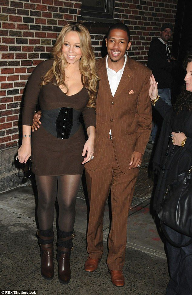 Happier times: Mariah and Nick were married for eight years, divorcing in 2016