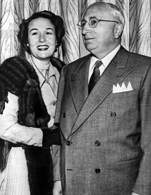 Film Producer & Founder of Metro Goldwyn Mayer Studios..........  Louis Burt Mayer (Laza Meir) (1885-1957) with his wife