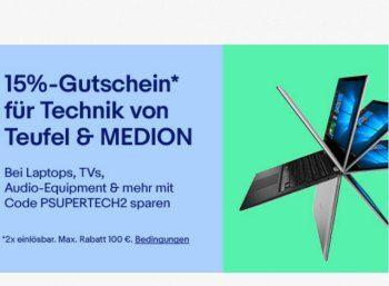 Ebay: 15 Prozent Rabatt auf Artikel von Aldi und Medion https://www.discountfan.de/artikel/technik_und_haushalt/ebay-15-prozent-rabatt-auf-artikel-von-aldi-und-medion.php Artikel von Aldi-Lieferant Medion und dem Sound-Spezialisten Teufel sind jetzt für wenige Tage bei Ebay mit 15 Prozent Extra-Rabatt zu haben. Der Gutschein darf zweimal verwendet werden. Ebay: 15 Prozent Rabatt auf Artikel von Aldi und Medion (Bild: Ebay.de) Um den Rabatt von 15 Prozent auf... #DvdPlayer