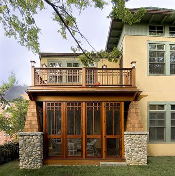 Craftsman Screened Porch - traditional - porch - dc metro - Pagenstecher Group