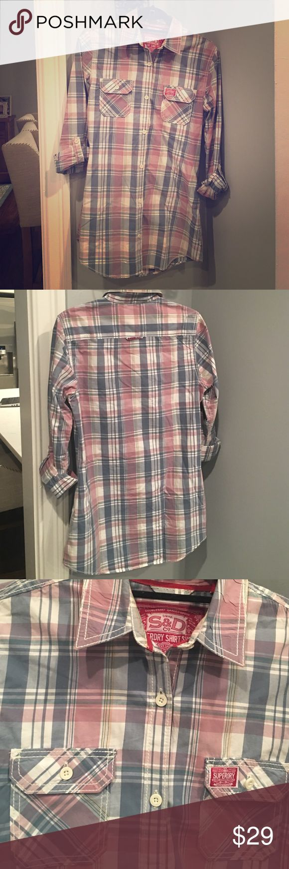 Superdry shirt shop Gorgeous flannel shirt! Like new condition!  ❌no trades no holds❌ Superdry Tops Button Down Shirts