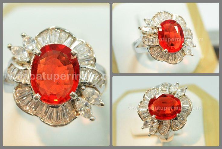 Elegant Sparkling PADSPARASCHA Ring - PLR 026