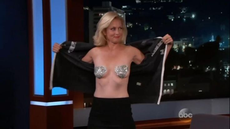 "During an appearance on ABC's Jimmy Kimmel Live on Wednesday night, Ali Wentworth, wife of Good Morning America anchor George Stephanopoulos, flashed her breasts to the late night host and his audience. Wentworth appeared with Kimmel to promote her new book ""Happily Ali After"" and said she decided to flash the audience after she saw Miley Cyrus do the same in the previous segment."